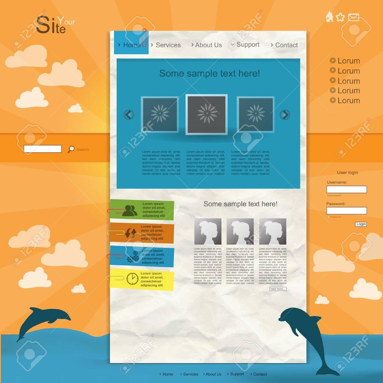 Creative modern website with portfolio Stock Vector - 13549278