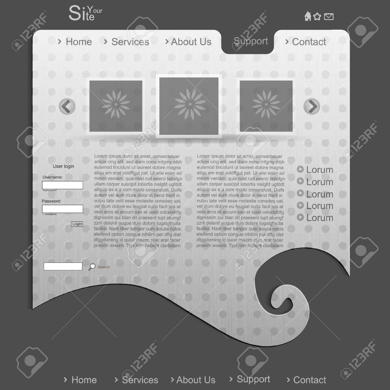 Modern creative business website with pattern Stock Vector - 13465209