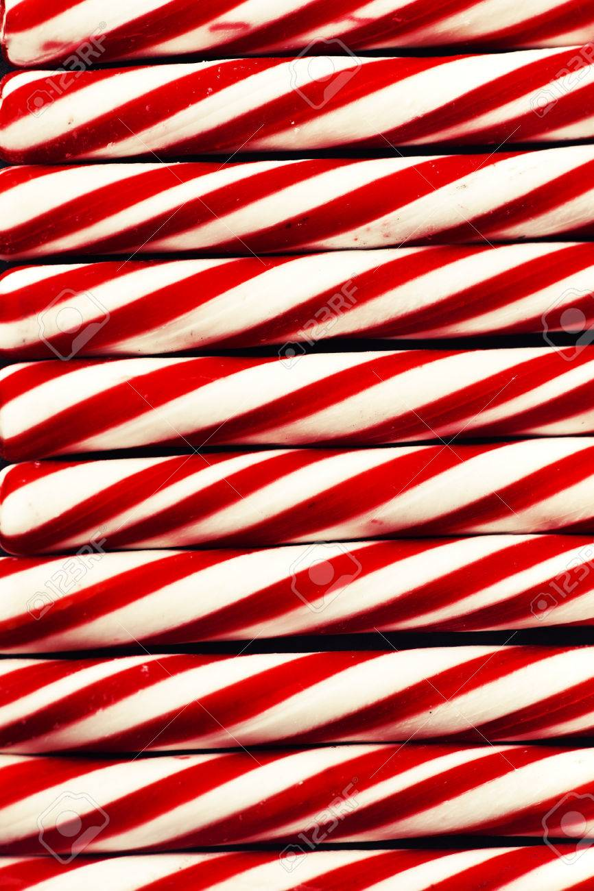 Candy Cane Background Christmas Background With Candie Cane Texture Retro New Year Theme Stock