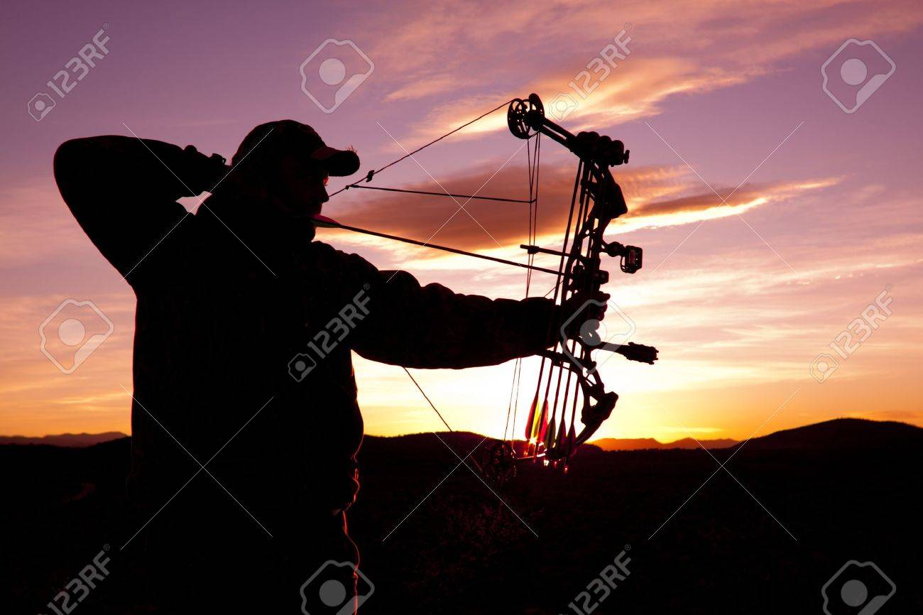 Full Draw at Sunset Stock Photo - 10977593