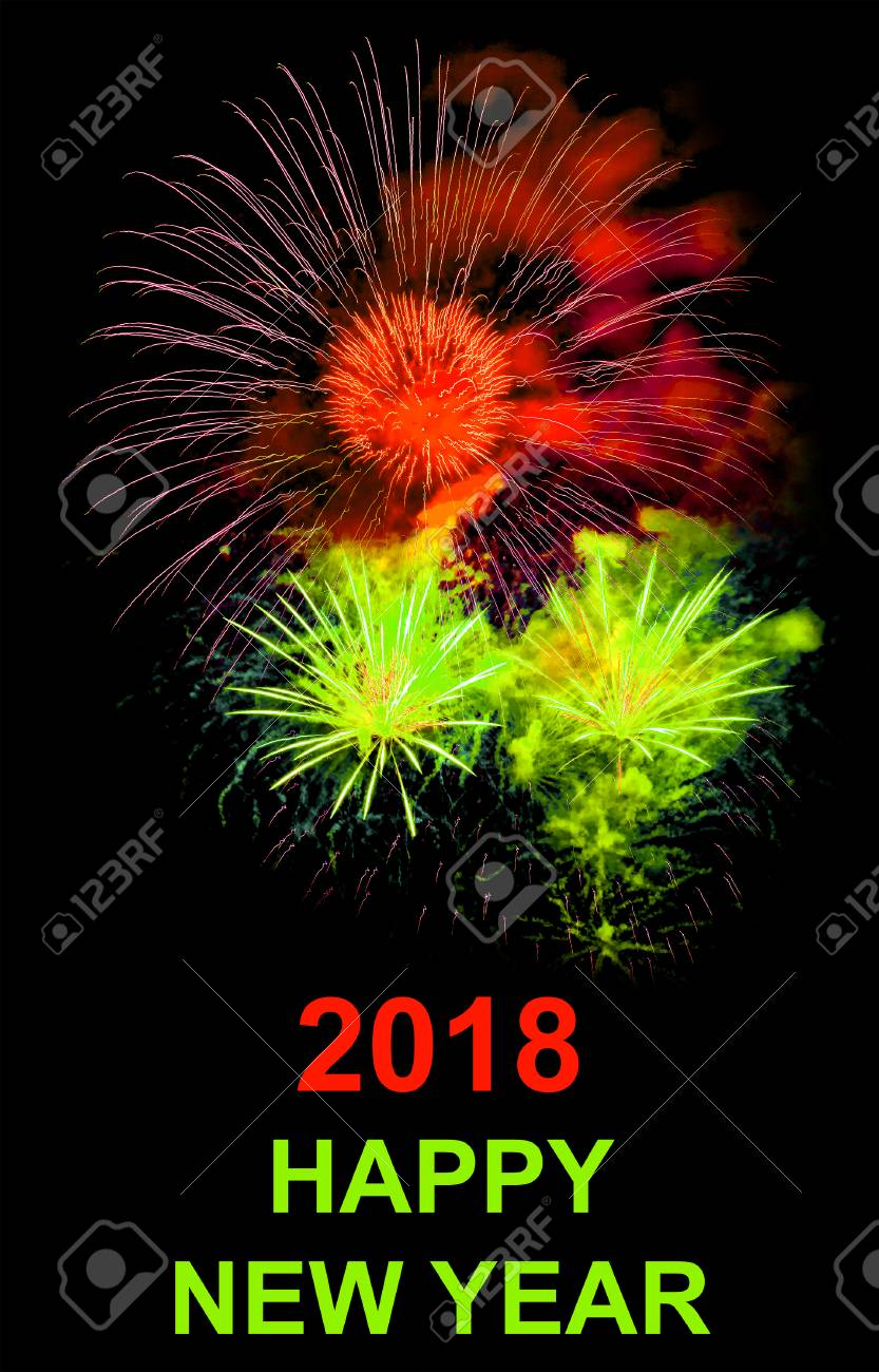 background for wallpaper happy new year 2018 stock photo 71803313