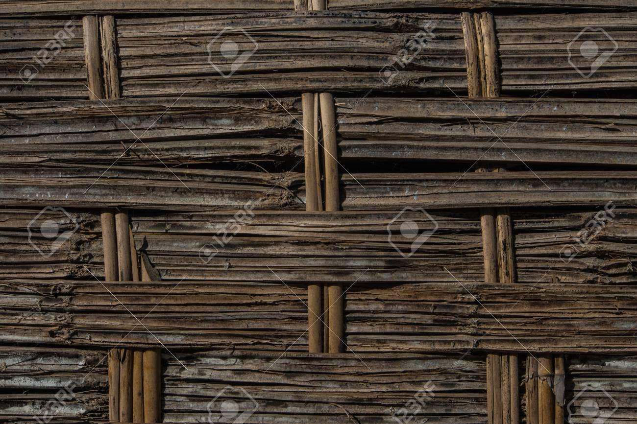 Weave Bambus Holzplatte Verwendet Zaun Zu Sein Lizenzfreie Fotos