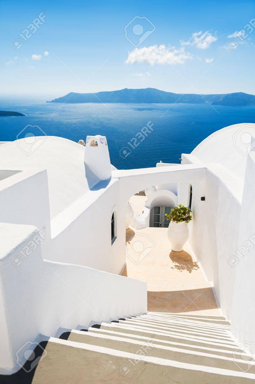 Cool Schöne Treppen Collection Of Weiße Architektur Auf Santorini-insel, Griechenland. Zum Meer.