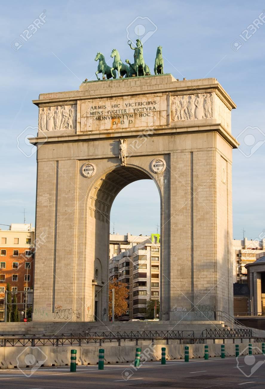 Arco Del Triunfo De Madrid Espana Fotos Retratos Imagenes Y