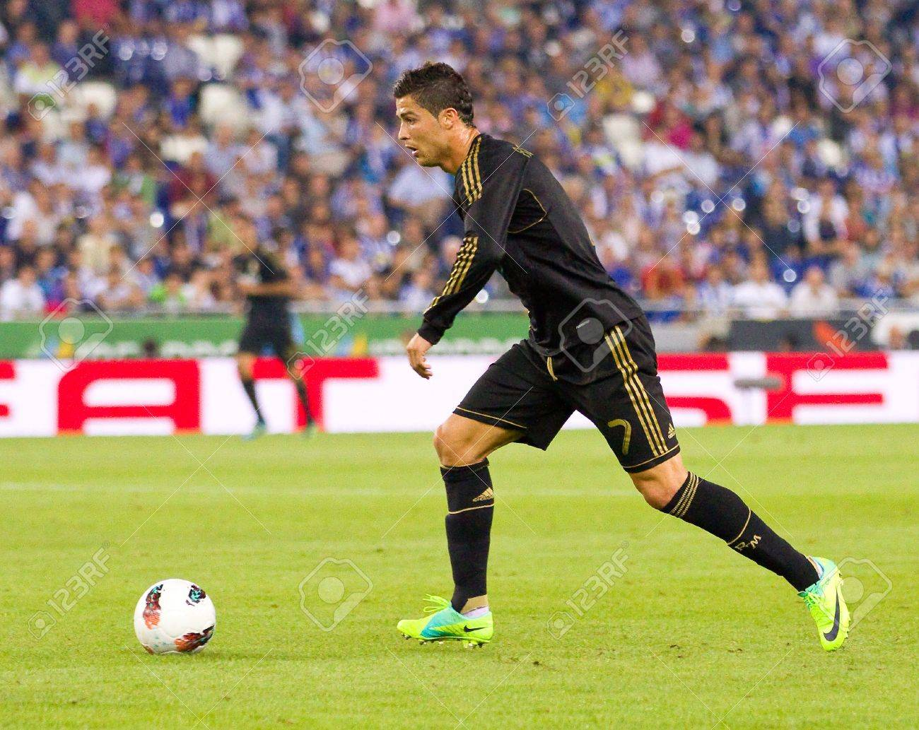 1fe2fa9ce Cristiano Ronaldo in action during the Spanish League match between RCD  Espanyol and Real Madrid