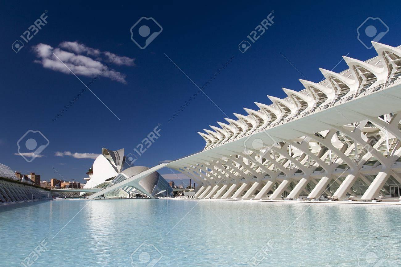 Città Delle Arti E Delle Scienze Di Valencia, In Spagna, Progettato ...