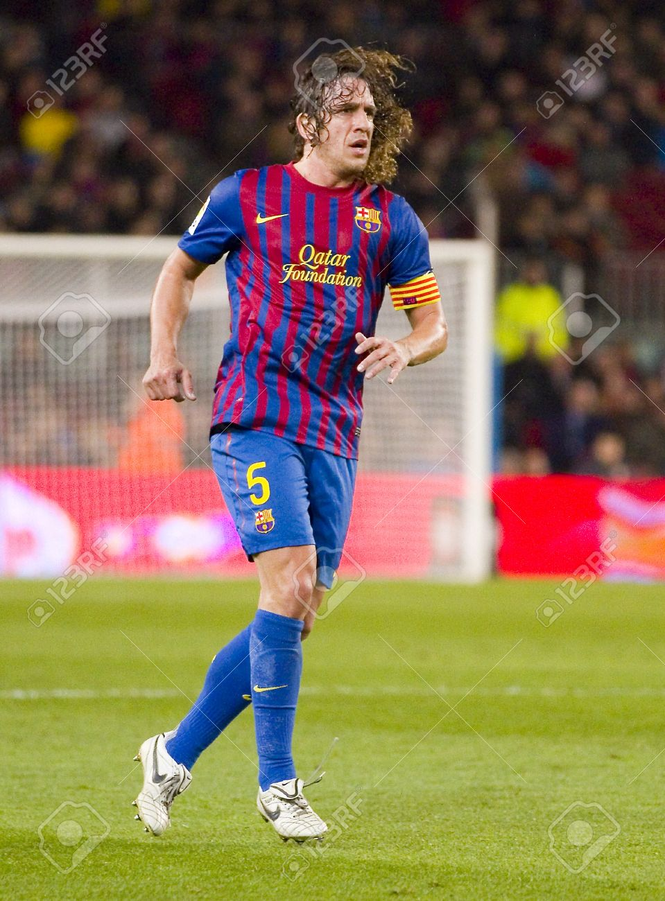Carles Puyol Barcelona In Action During The Spanish Cup Match
