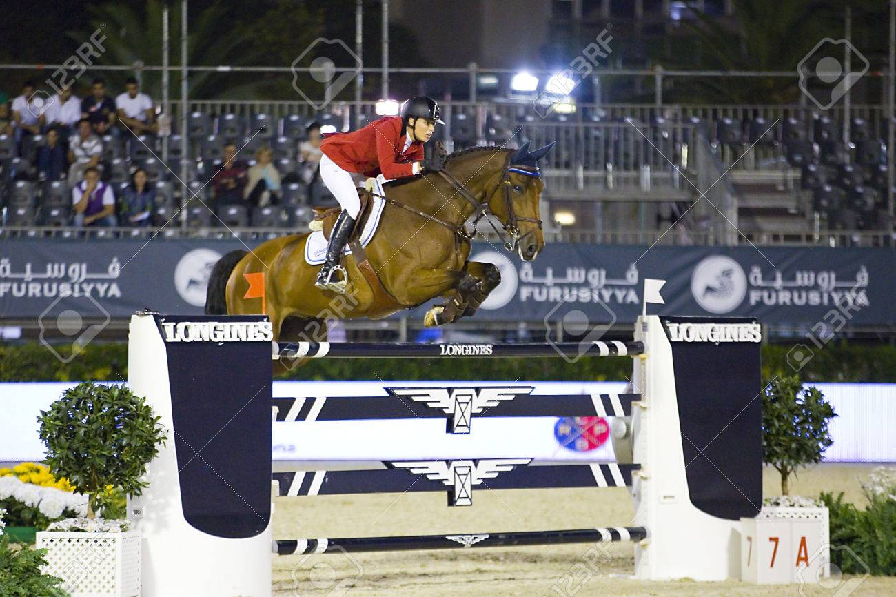 Pilar Cordon From Spain Jumps A Horse Jumping Obstacle During Stock Photo Picture And Royalty Free Image Image 22454258