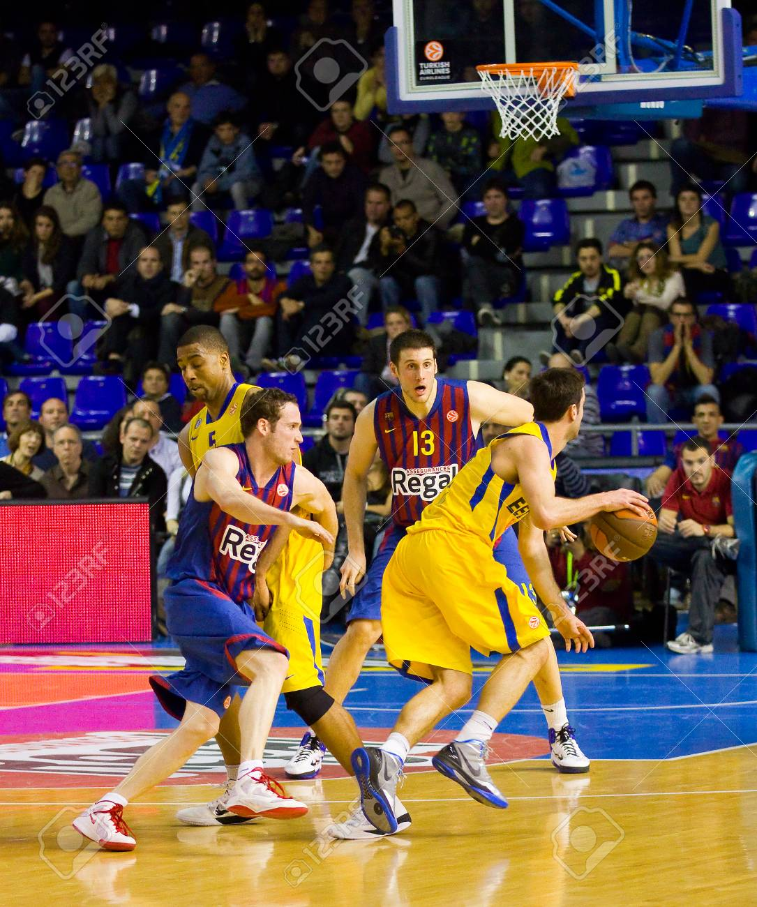 Some Players In Action At The Euroleague Basketball Match Between Stock Photo Picture And Royalty Free Image Image 25476208