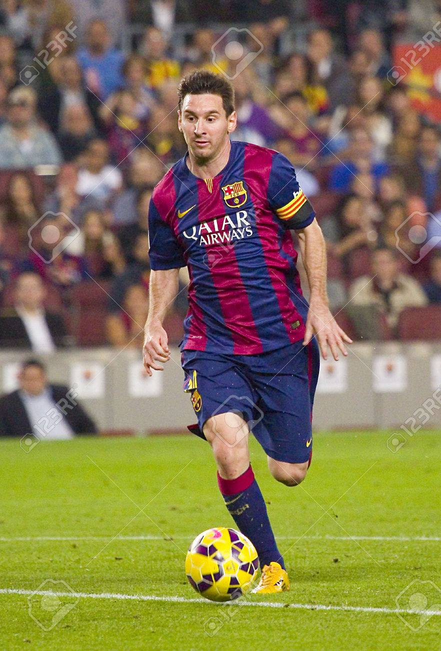Lionel Messi Of Fcb In Action At Spanish League Match Between Stock Photo Picture And Royalty Free Image Image 33623651