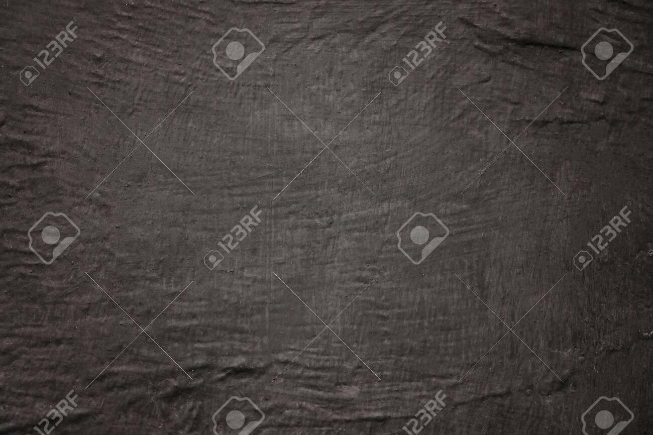 Empty black background with concrete texture, copy space - 143965272