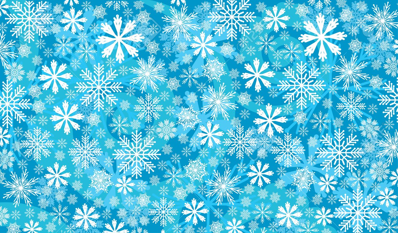 Abstract Snow Wallpaper On A Blue Background
