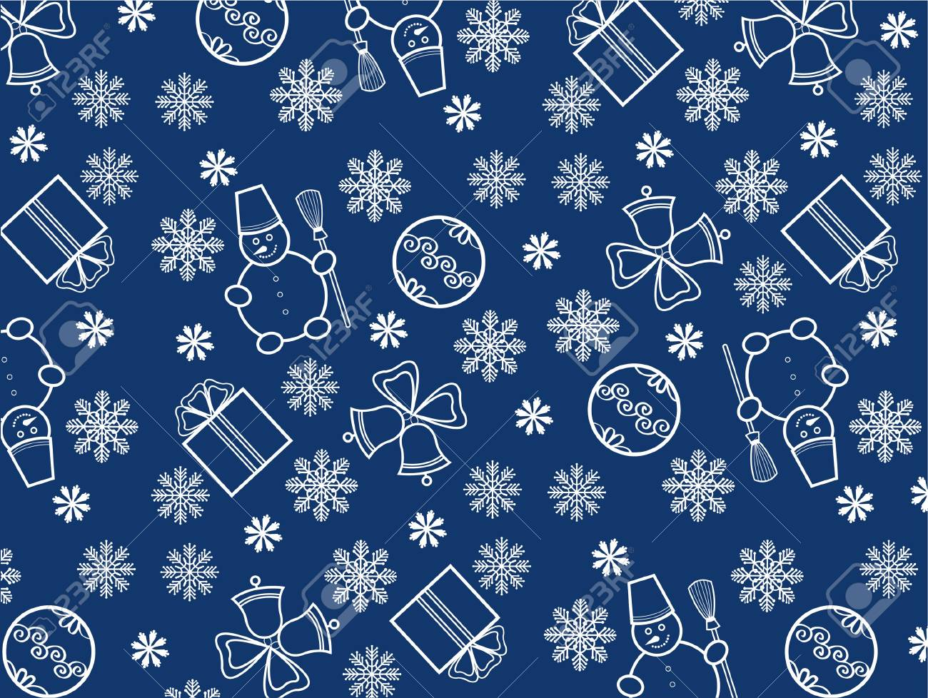 blue christmas wallpaper with new year theme stock vector 11209960