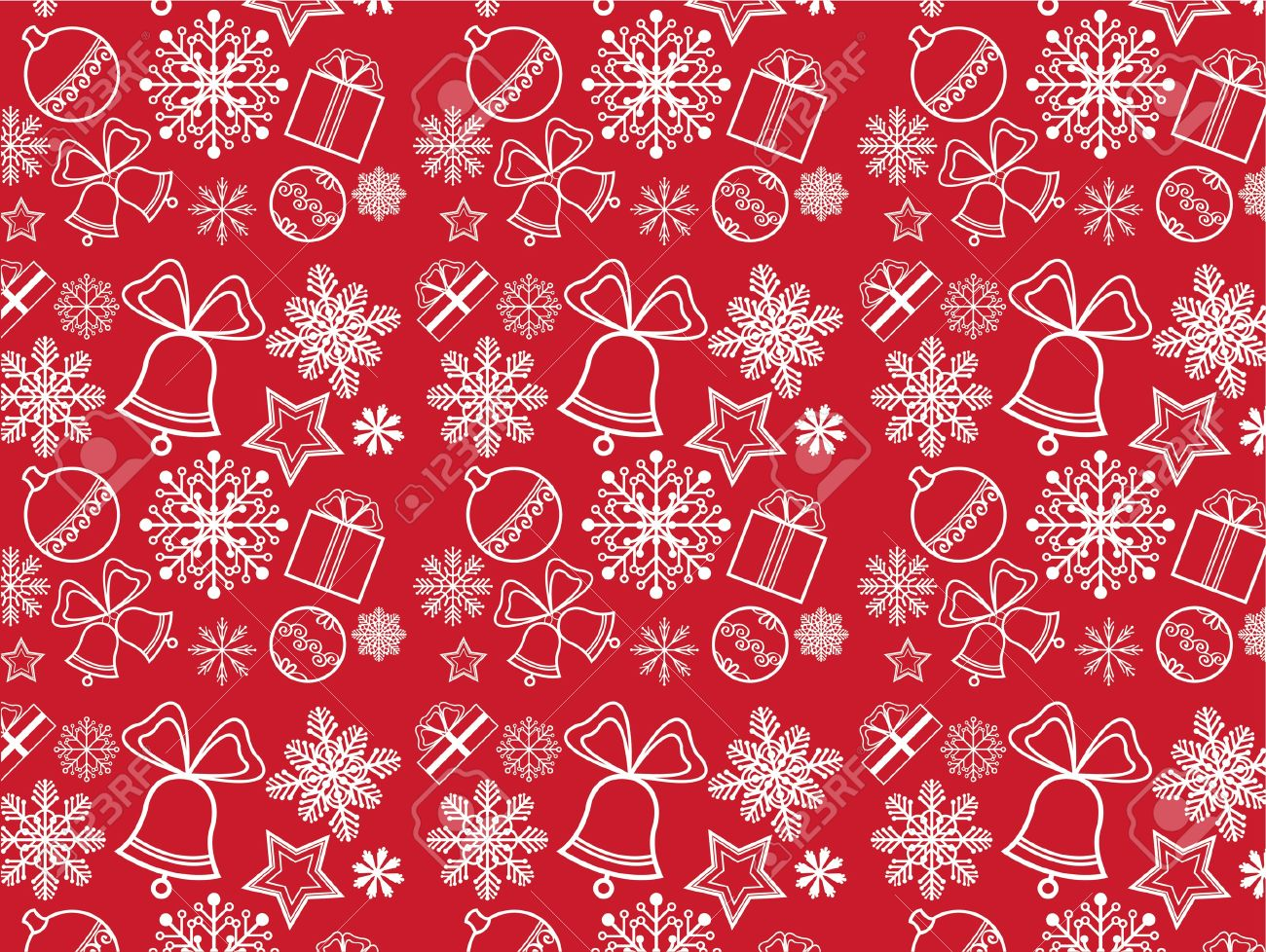 Red Christmas Wallpaper With New Year Theme Royalty Free Cliparts