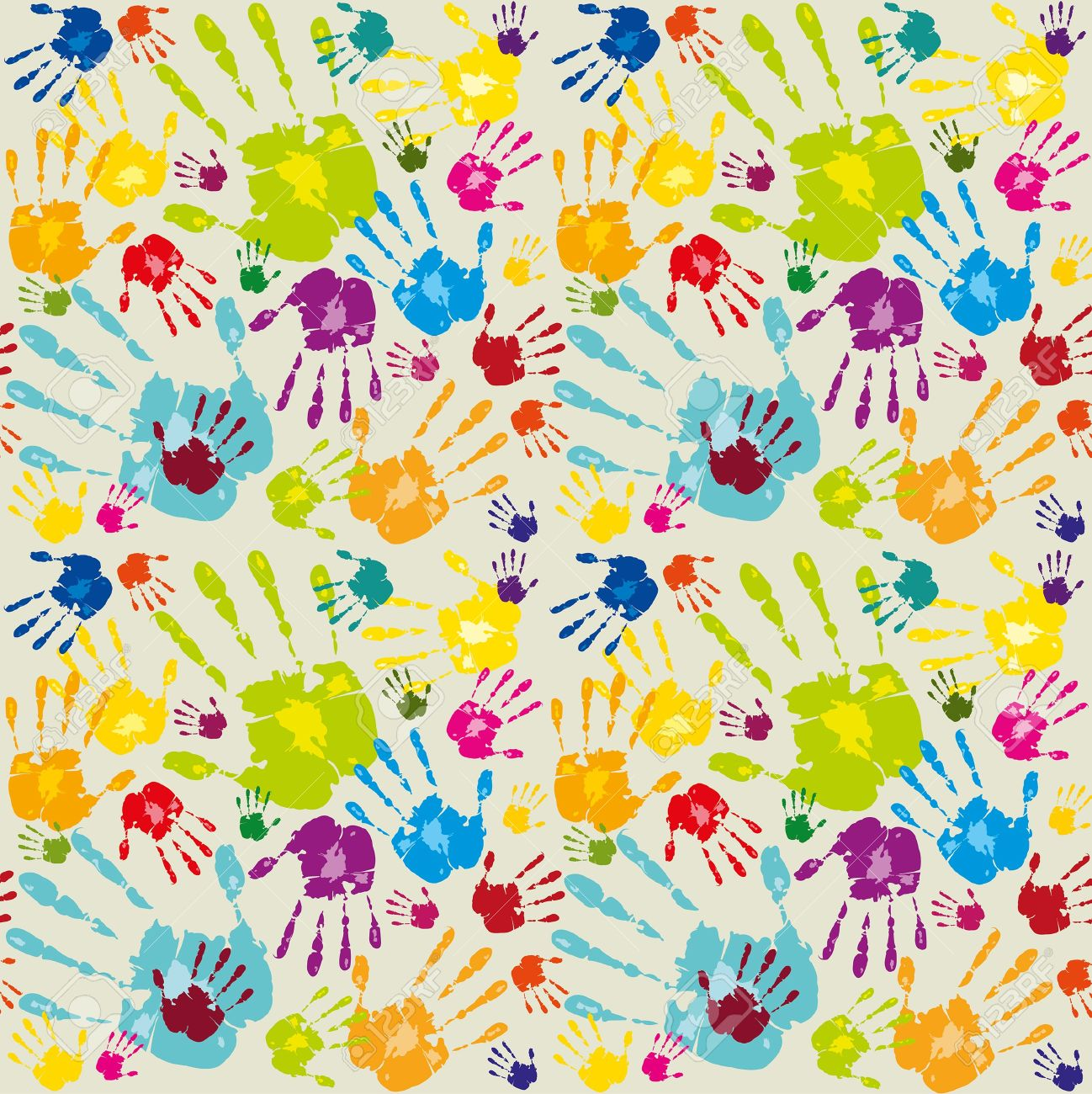 Abstract Colored Wallpaper With Hands