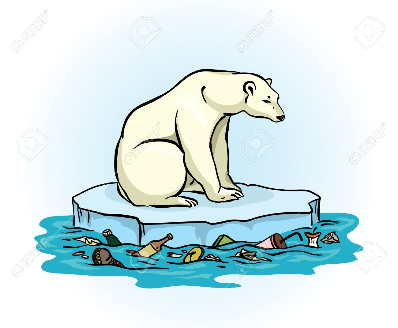 Soil Bag Clipart soil pollution Polar bear