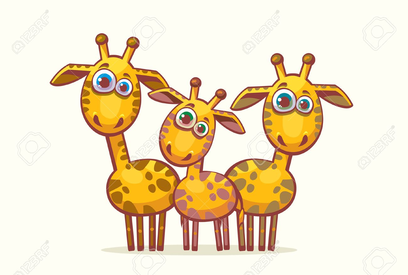 Image result for three giraffes cartoon