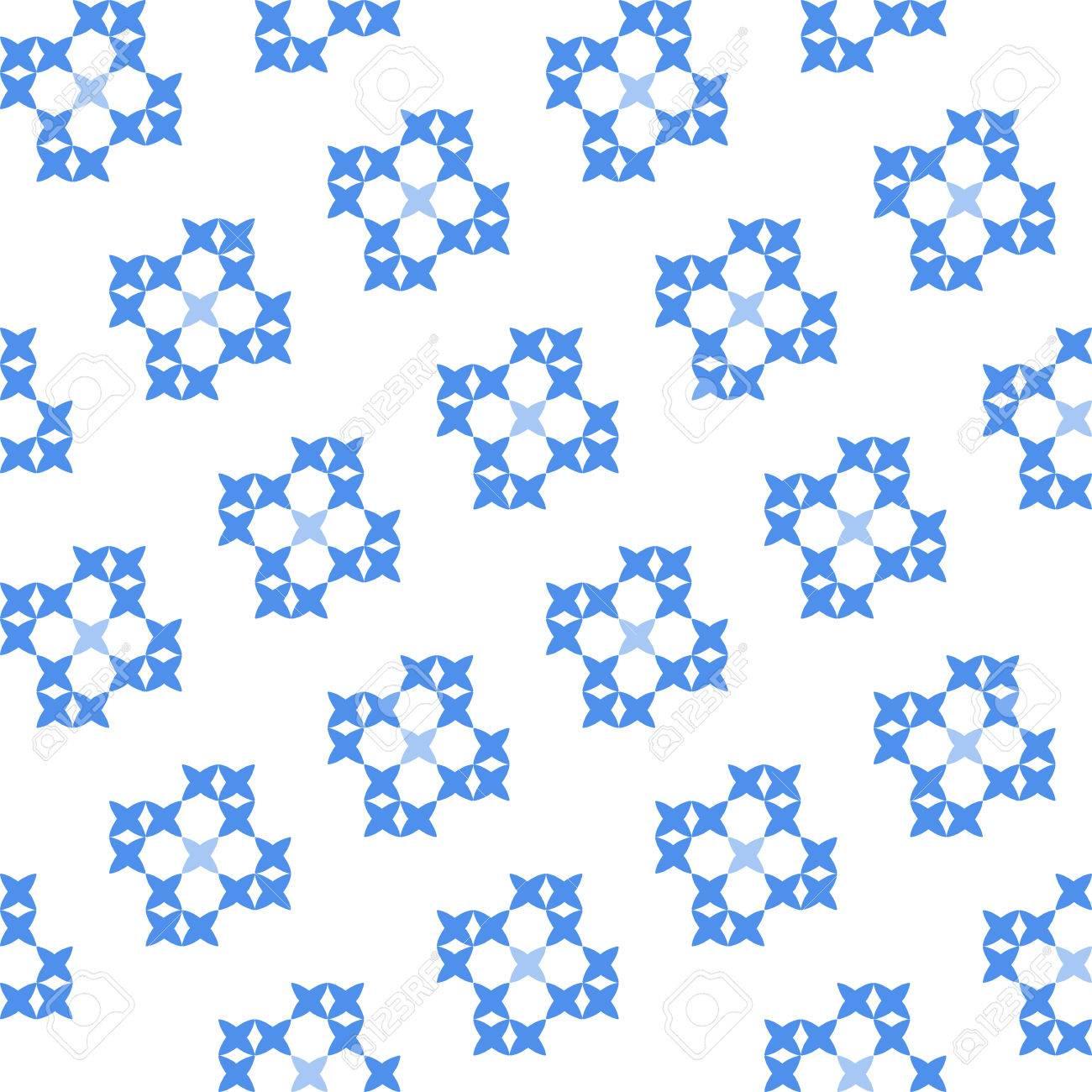 Perfecta Textura Bordado De Patrones De Color Azul Planas Sobre ...