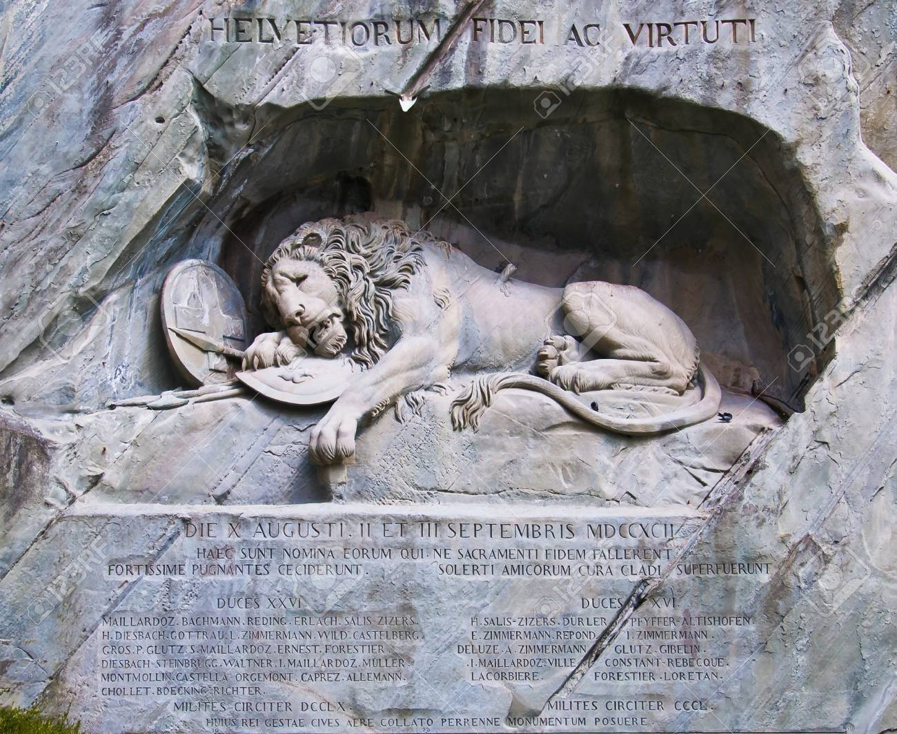 Famous lion monument in lucerne Stock Photo - 10270928