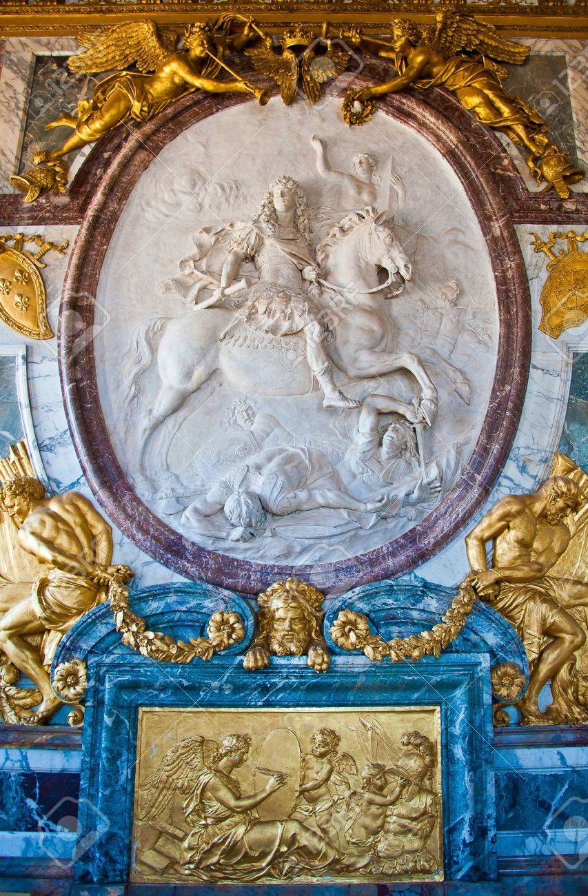 detail in Great Hall Ballroom in Versailles Palace Paris France Stock Photo - 10986263