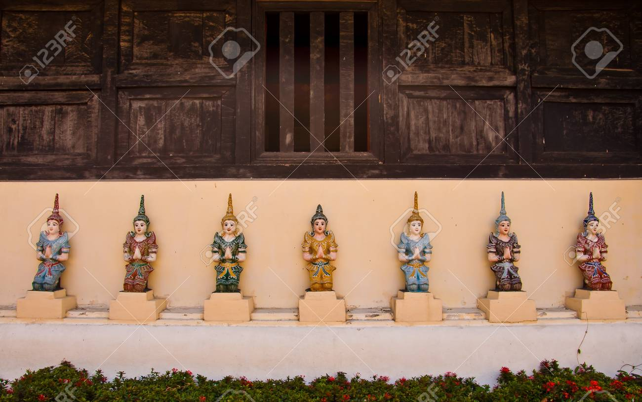 7 Angles Protect Church of Thai temple in north of Thailand Stock Photo - 13401696