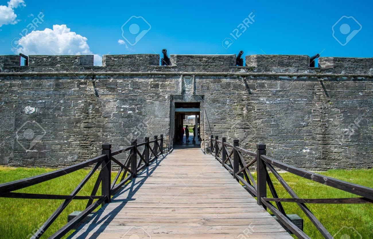 St. Augustine, Florida At The Castillo De San Marcos National ...