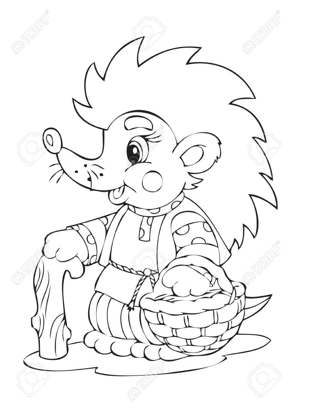 Illustration of the hedgehog worker Stock Vector - 4467935