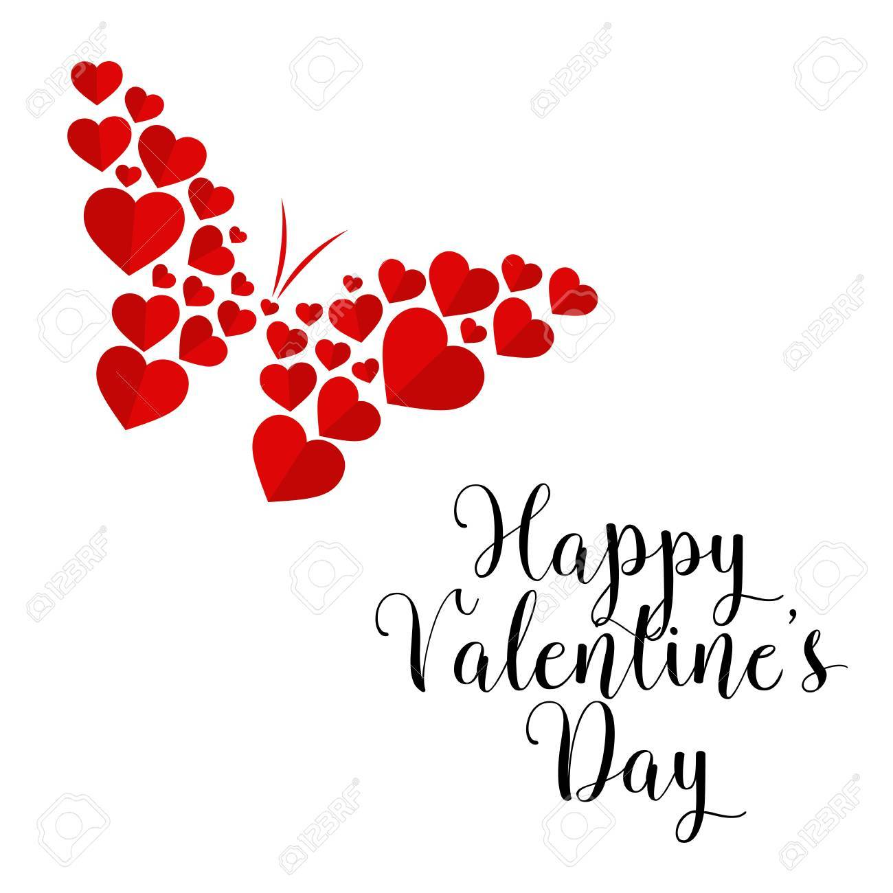 Modern Romantic Happy Valentine Card Suitable For Invitation Web Banner Social Media And Other Valentine Related Occasion