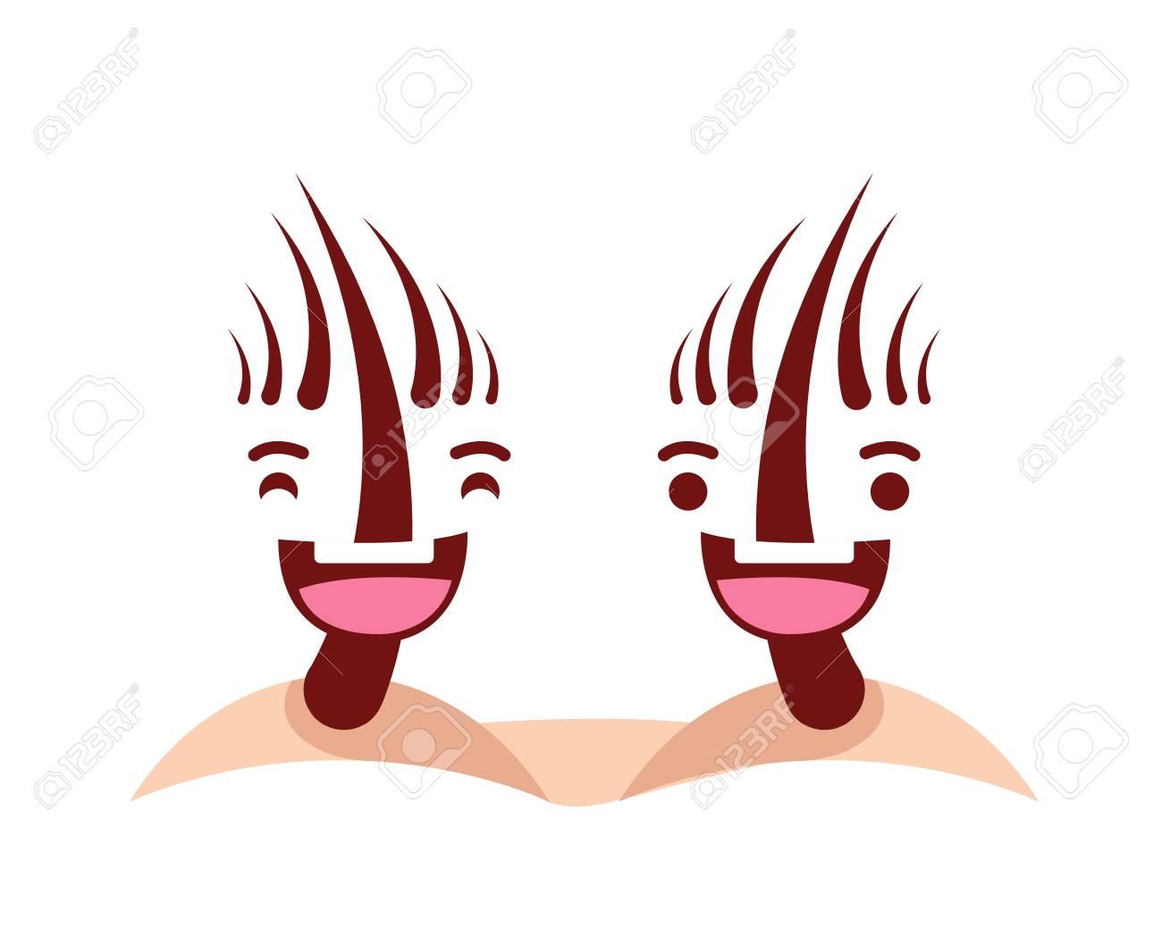 Gesunde Glückliche Und Nette Menschliche Anatomie-Illustrations ...