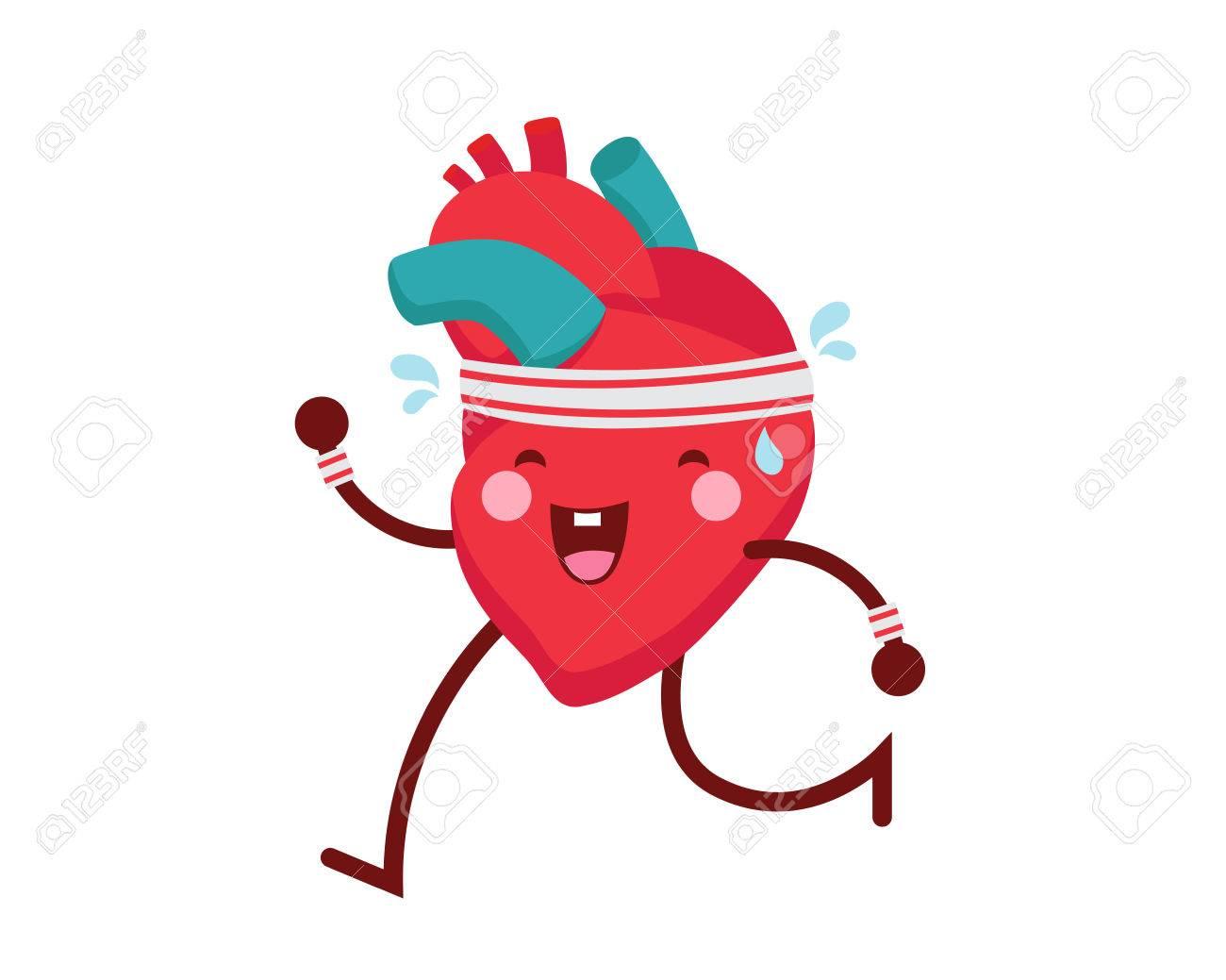 Healthy Happy And Cute Human Anatomy Illustration Cartoon Healthy