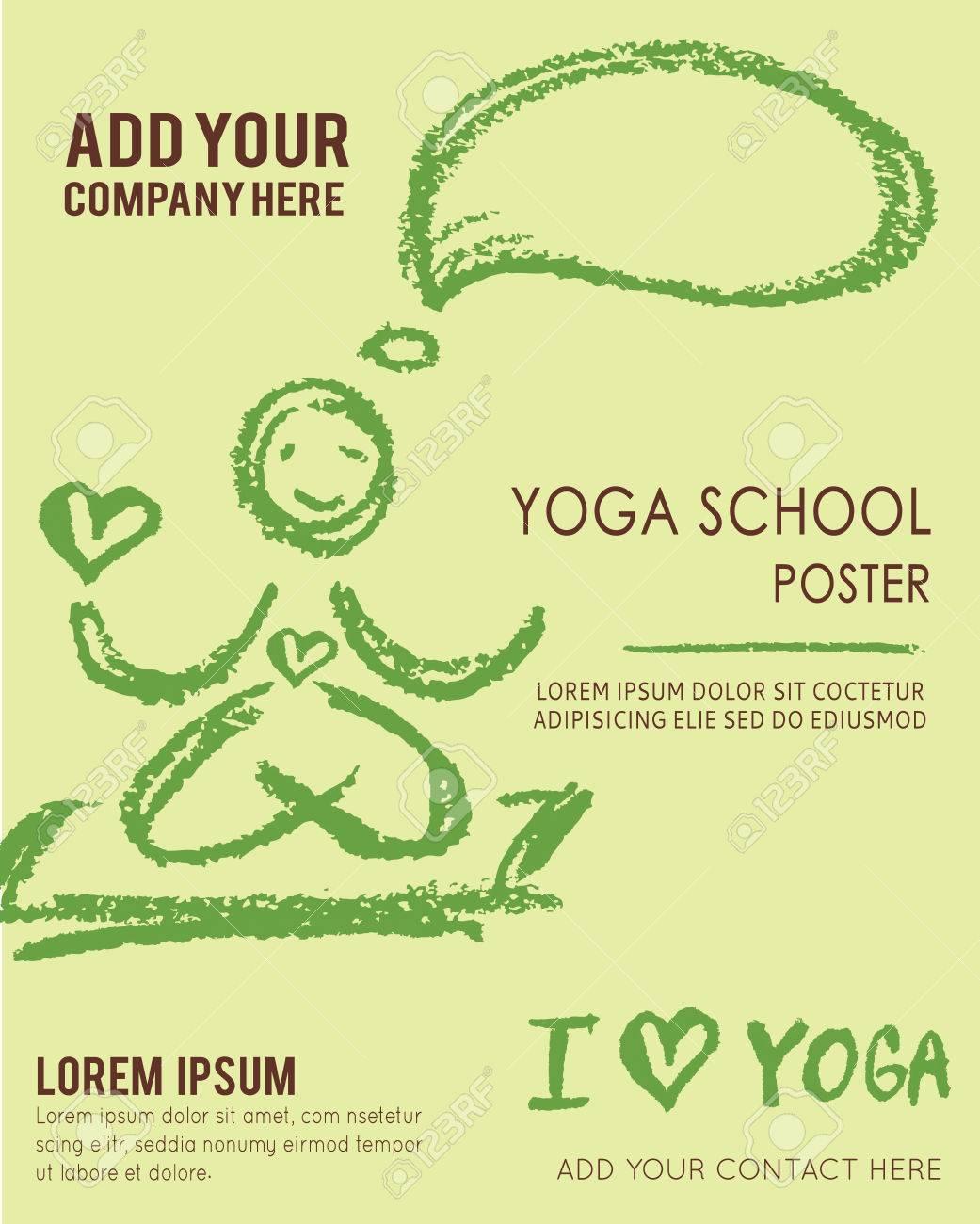 free yoga flyer template