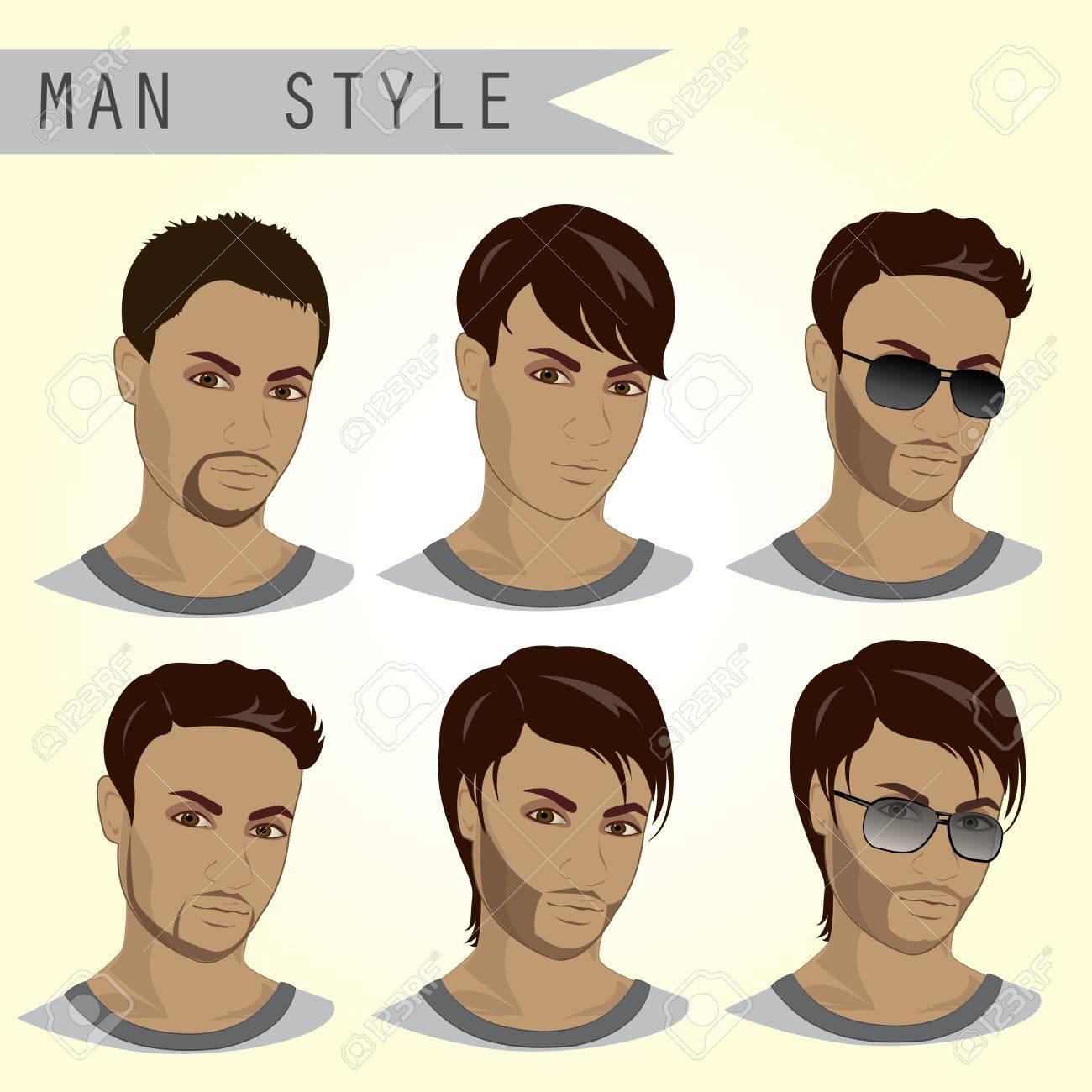 男性,髪型,イラスト
