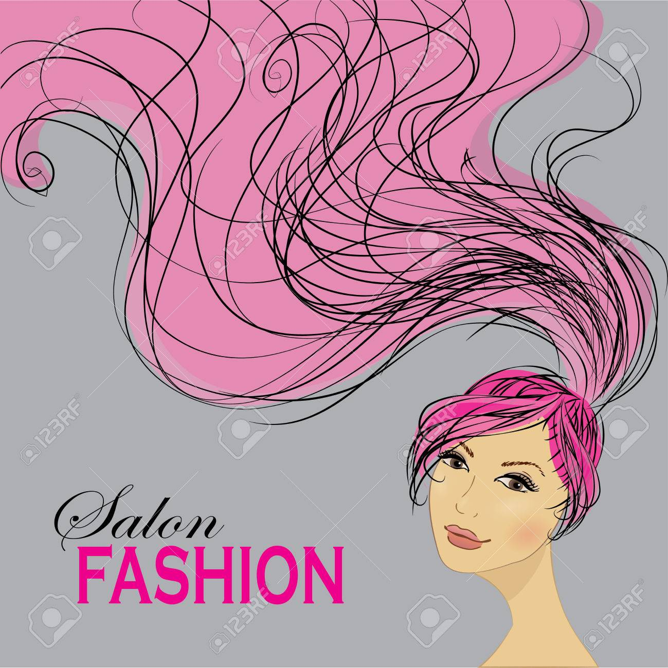 Fashion Woman With Long Hair Vector Illustration Stylish Design Royalty Free Cliparts Vectors And Stock Illustration Image 38810181