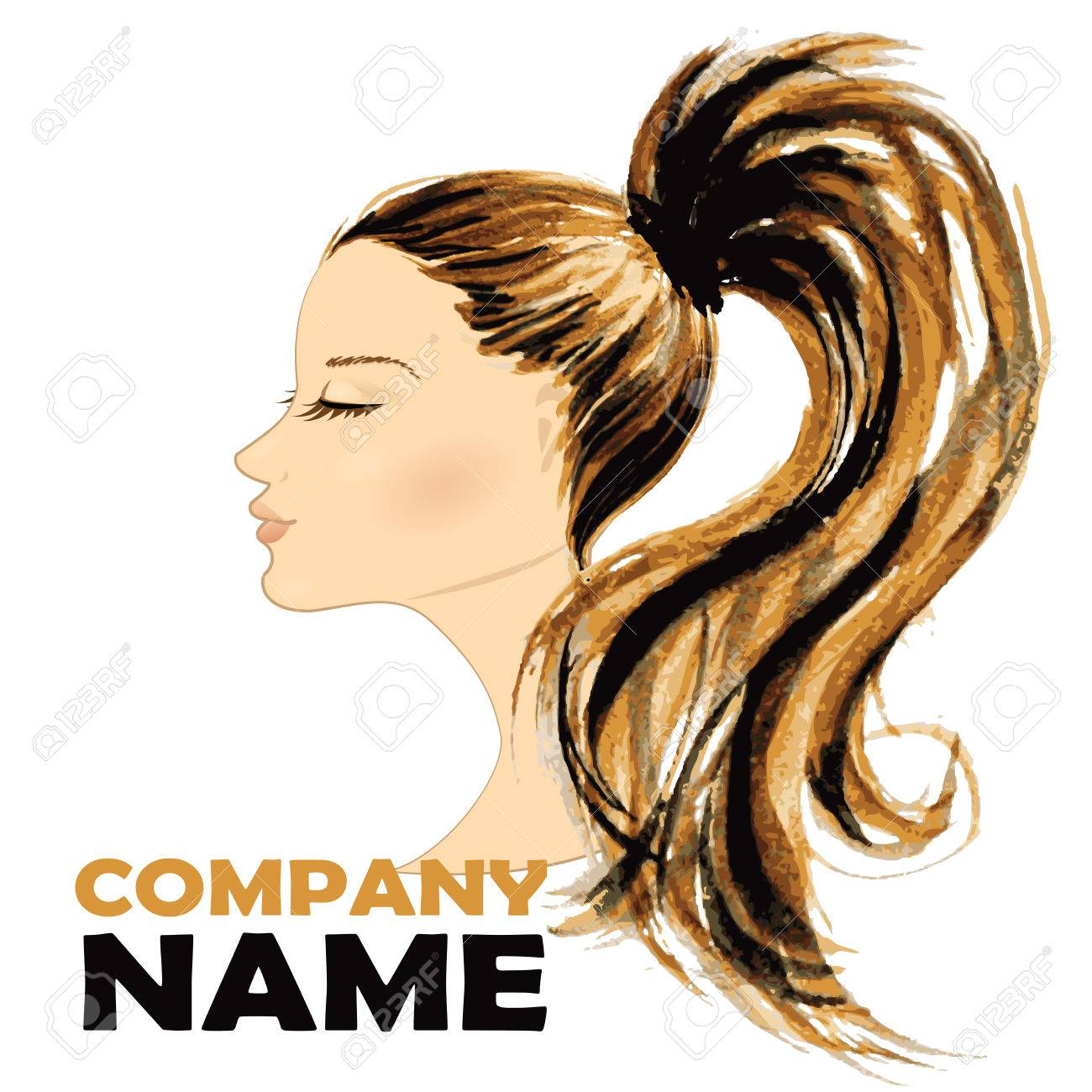 Fashion Woman With Long Hair Vector Illustration Stylish Design Royalty Free Cliparts Vectors And Stock Illustration Image 38810040