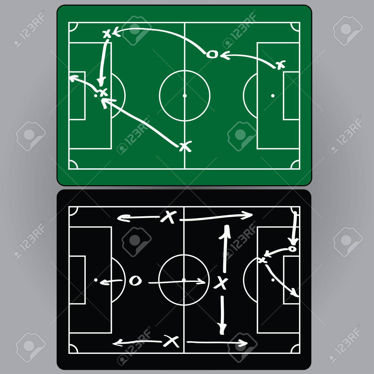 Football Tactics And Movement Of Players Charts Infographics