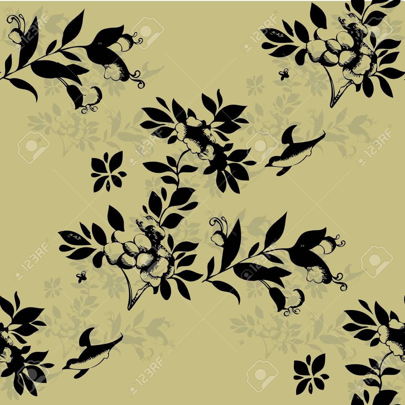 Seamless Motif Floral Seamless Peut être Utilisé Pour Le Papier