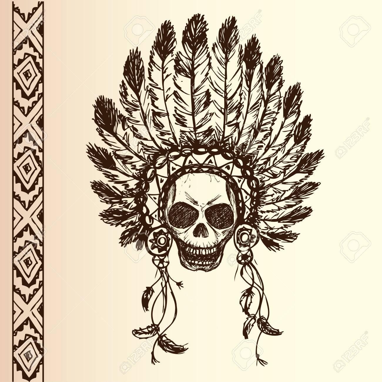 Americano Tocado Nativo Jefe Indio (la Mascota Del Jefe Indio ...