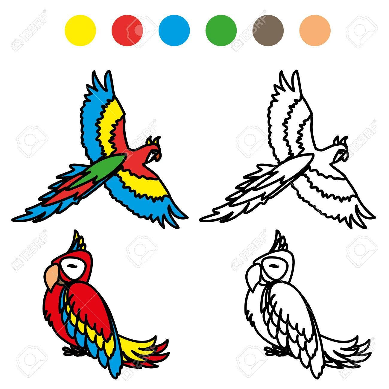 Dibujos De Loros Para Colorear Y Pintar