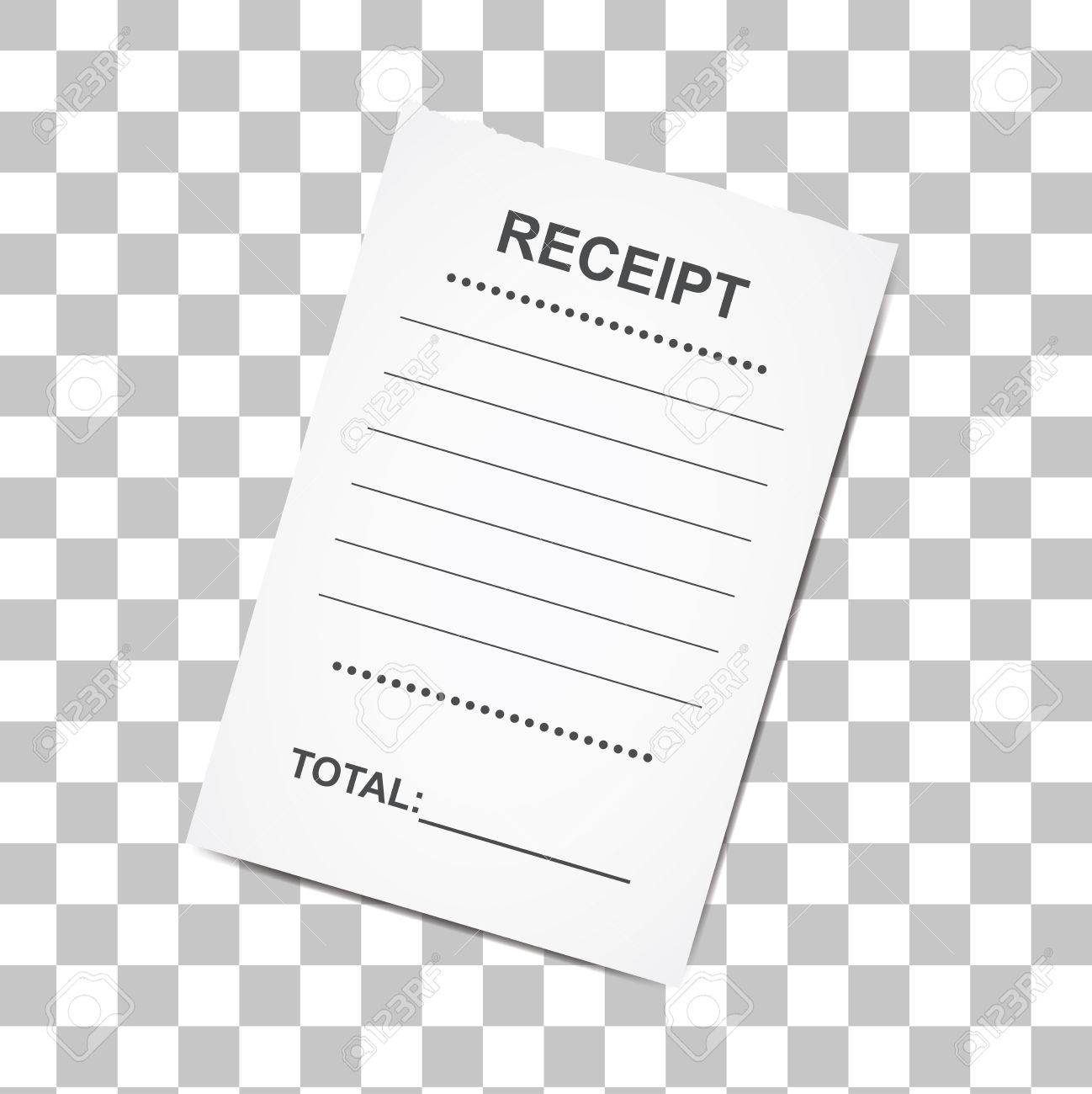 sales printed receipt template for bank cafe or restaurant paper
