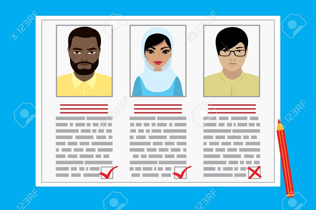 Curriculum Vitae Recruitment Candidate Job Position Concept Of