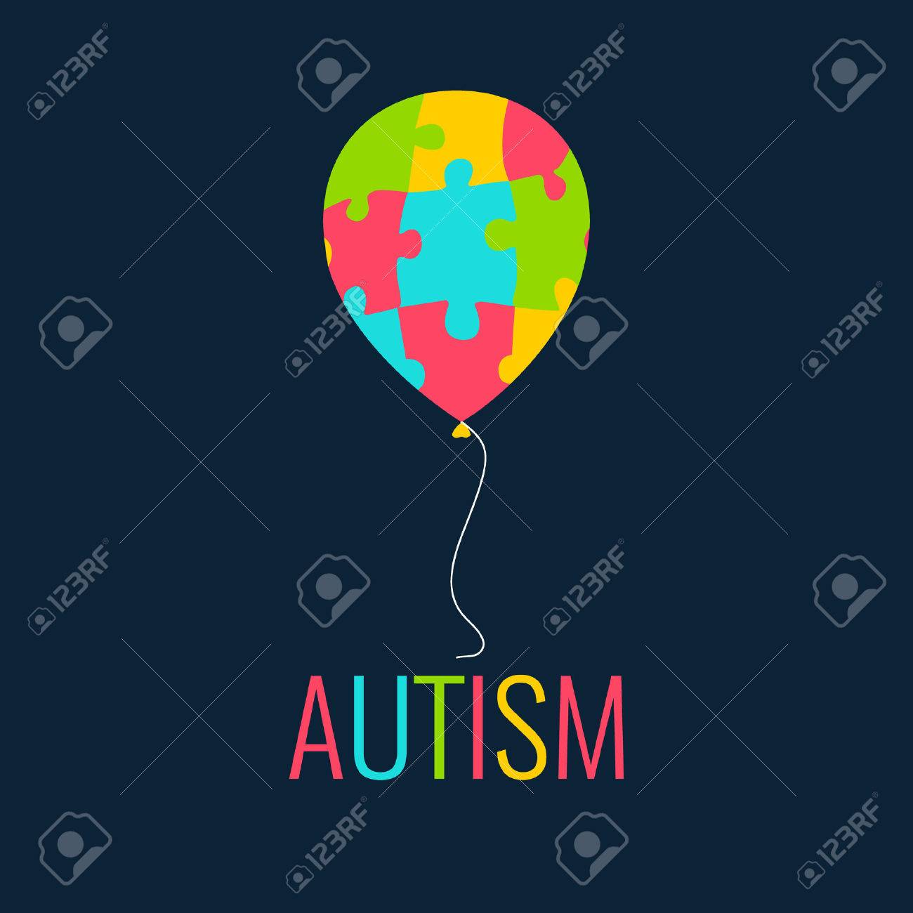 World autism day autism awareness poster with a colorful balloon world autism day autism awareness poster with a colorful balloon made of puzzle pieces biocorpaavc