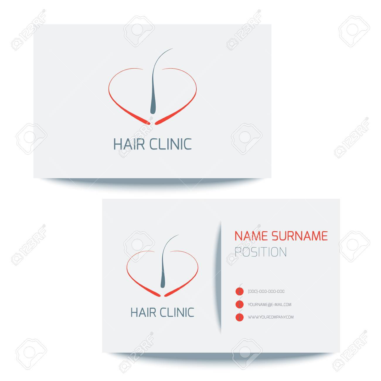 Medical business card template with hair follicle icon vector medical business card template with hair follicle icon vector hair bulb graphic design for hair wajeb Image collections