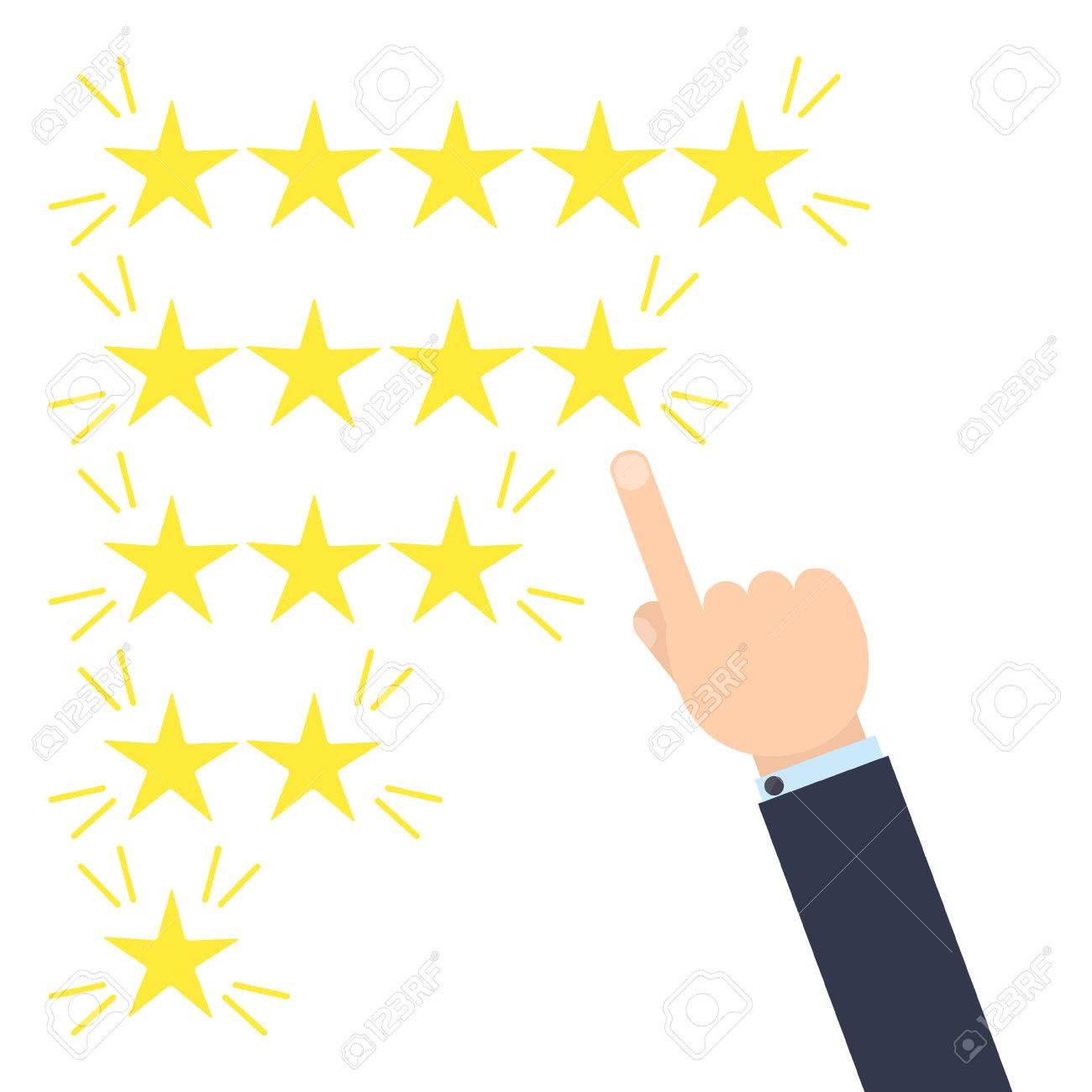 Customer Good Positive Review Design Template On Yellow Background ...