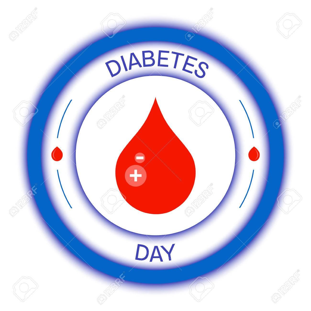 mes de conciencia de diabetes de imágenes azules