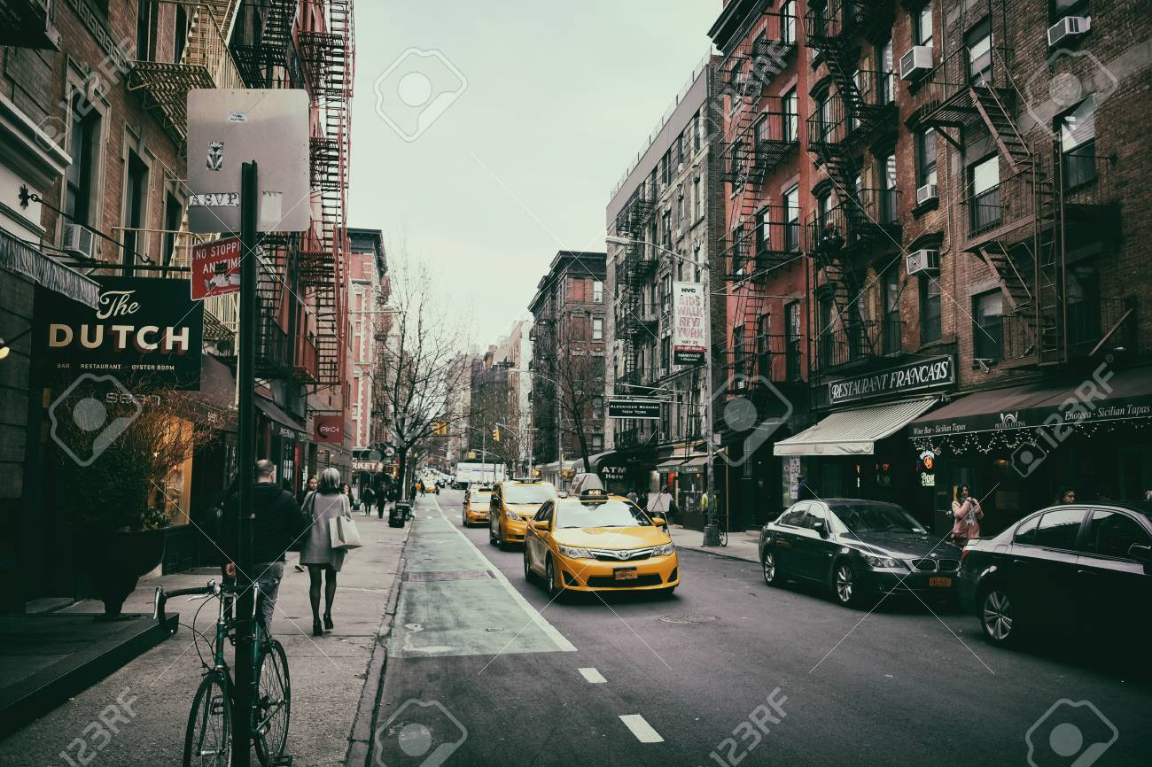 Soho Street View In New York City Stock Photo Picture And Royalty
