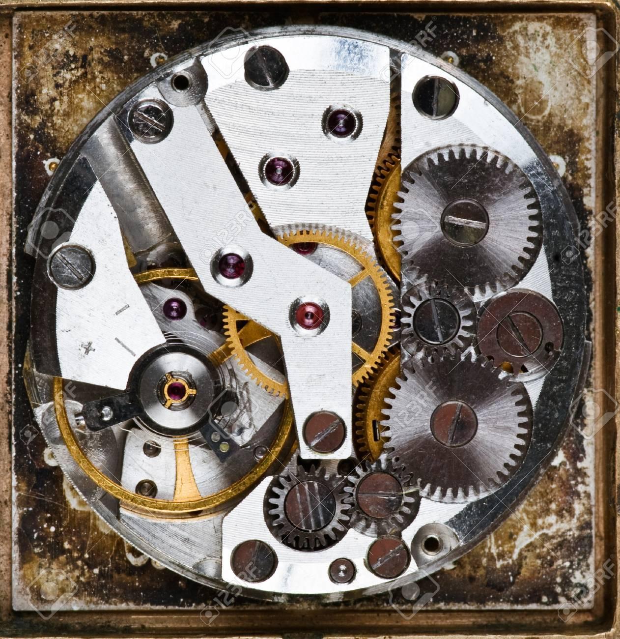 Old grungy wristwatch clockwork Stock Photo - 4322325