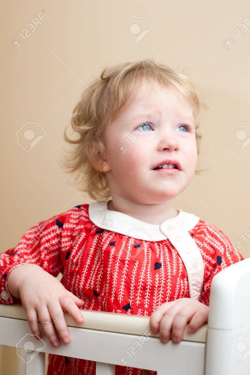 Portrait of sad little girl with tear in her eye Stock Photo - 6694566