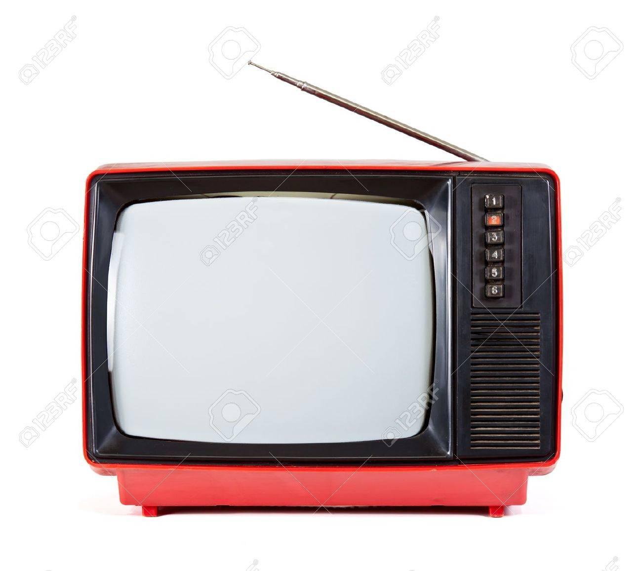 Fernseher Hintergrund vintage red fernseher isoliert auf weißem hintergrund lizenzfreie