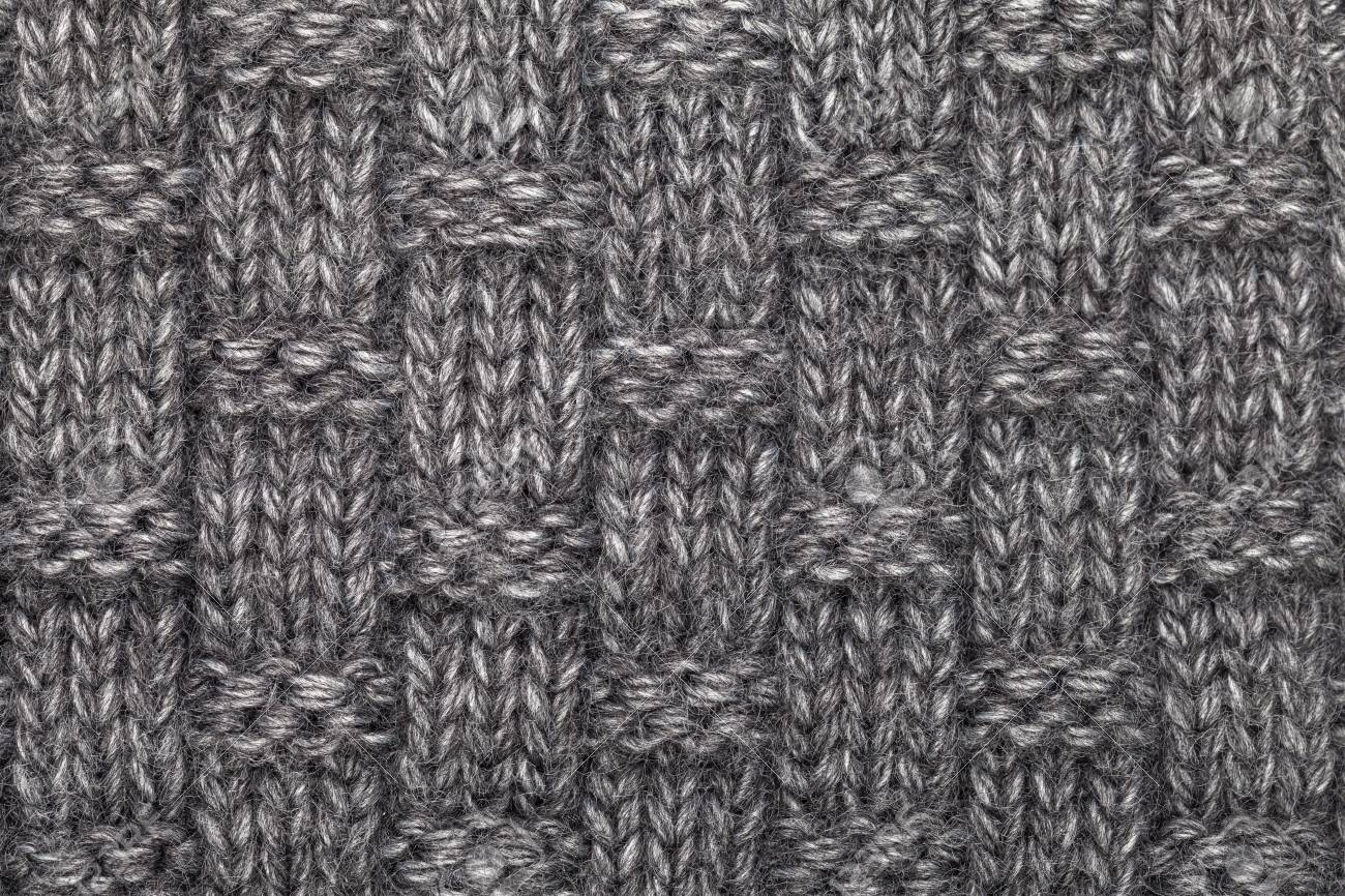 c280b0d0fc9e7f Grey knitted fabric made of heathered yarn textured background Stock Photo  - 89490754
