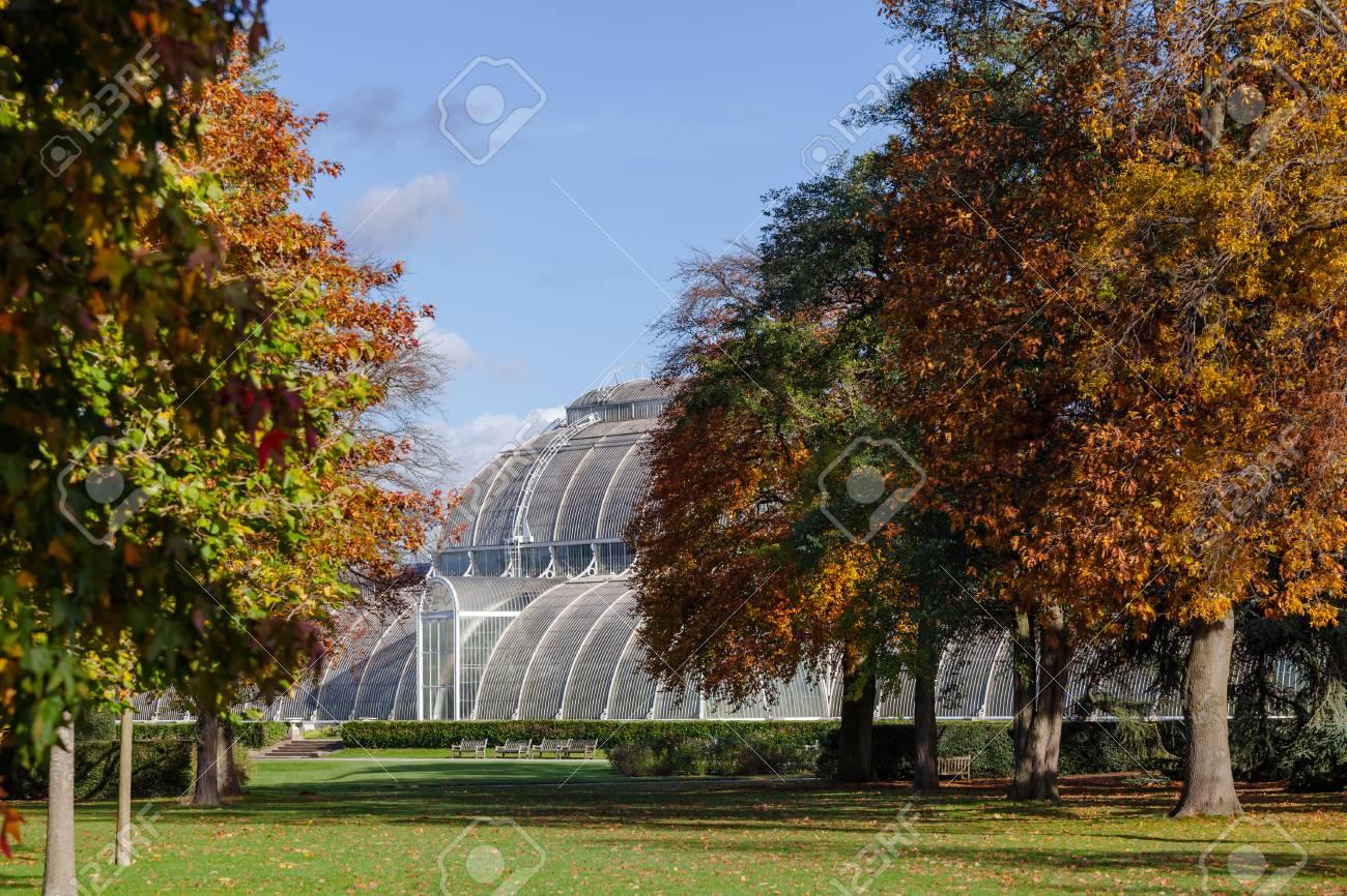 Victorian Palm House Greenhouse At Kew Gardens Botanical Garden ...